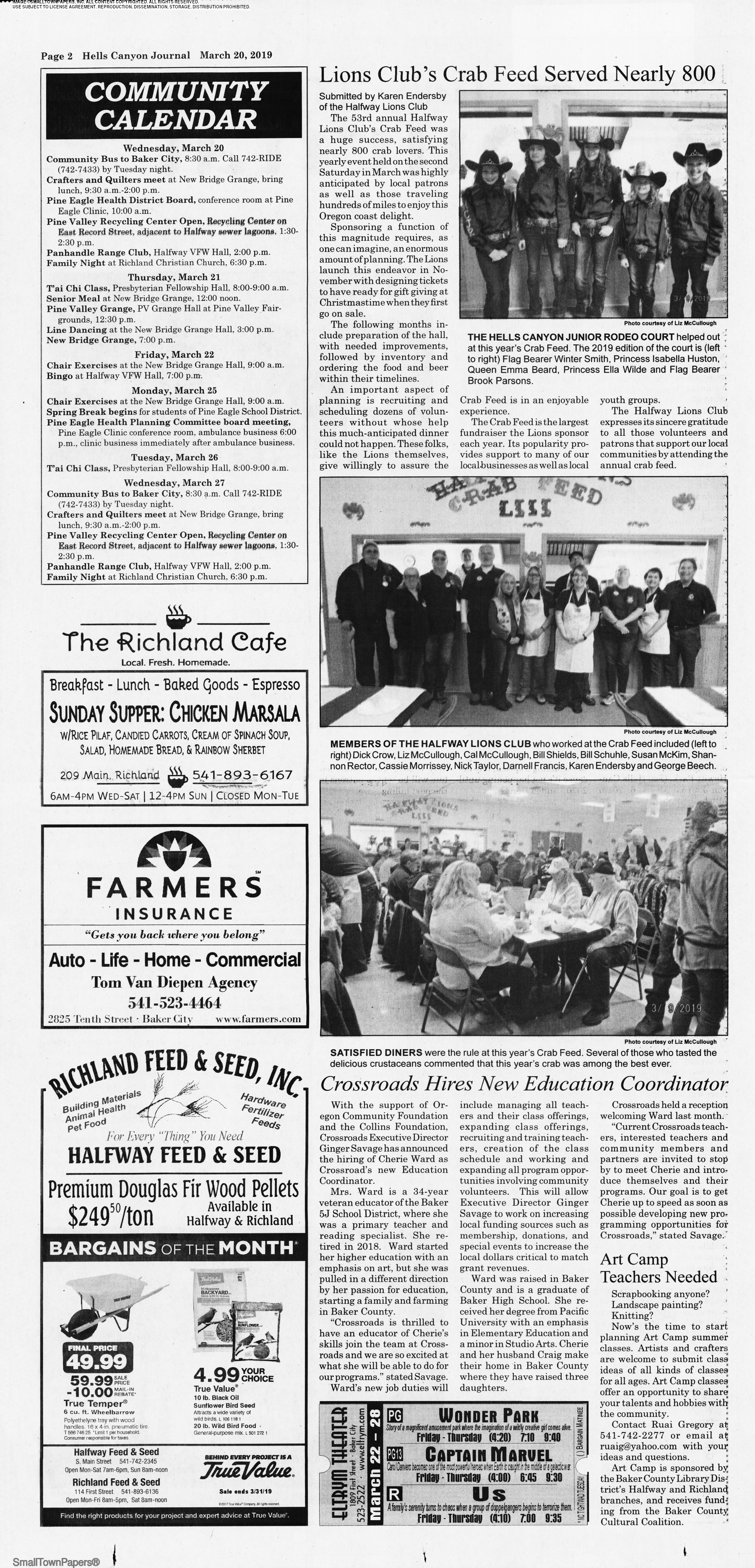 Hells Canyon Journal March 20, 2019: Page 2